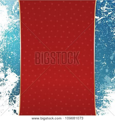Christmas red Banner with white Snowflakes