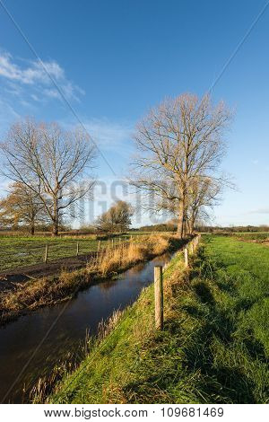 Picturesque Dutch Landscape In The Fall Season