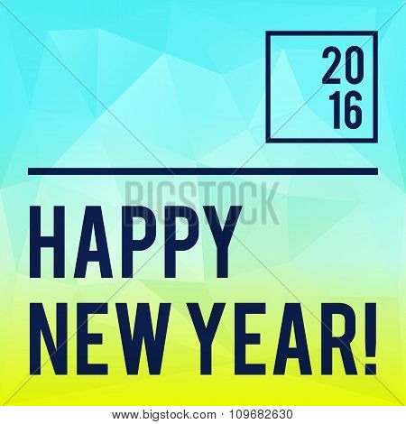 Square New Year design with gradient triangle background