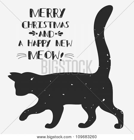 Vintage Greeting Card. Cat.