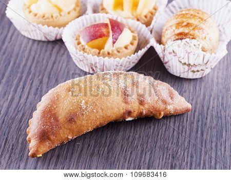 Pastries Over Wooden Table