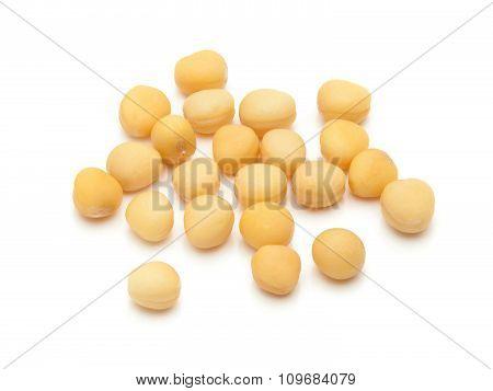 Macro closeup of Organic yellow mustard seeds.