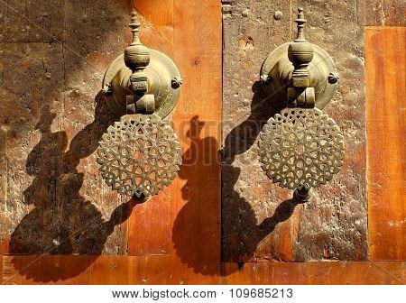 Moroccan Decorated Bronze Door Knobs, Morocco