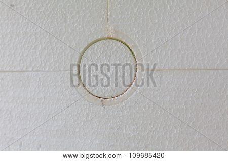 Closeup Of Anchoring Facade Polystyrene