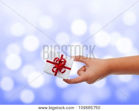 Child Hand With Small Present