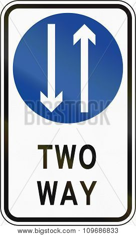 Road Sign In The Philippines - Two Way Traffic