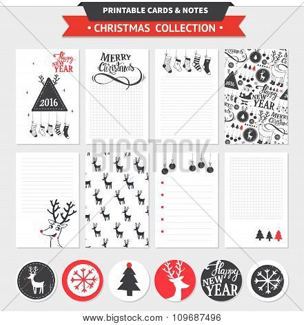 Merry Christmas printable set.