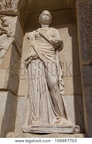 Sophia, Wisdom Statue In Ephesus Ancient City