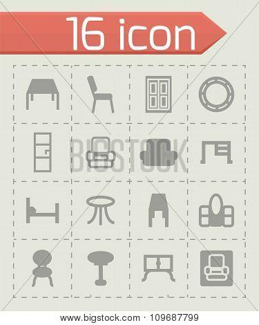 Vector Furniture icon set