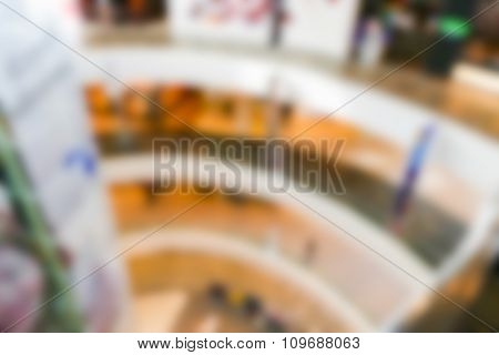 Blurry Defocused Image Of Interior Of Department Store Building