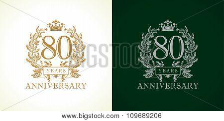 80 anniversary luxury logo.