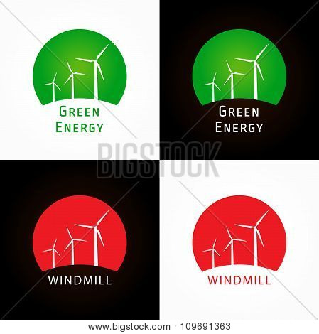 The windmill company colorful logo.
