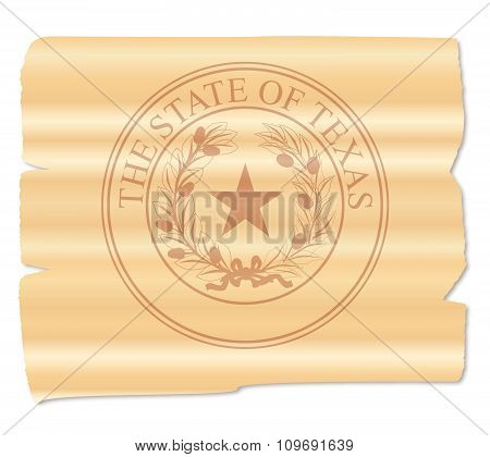 Texan State Seal Brand
