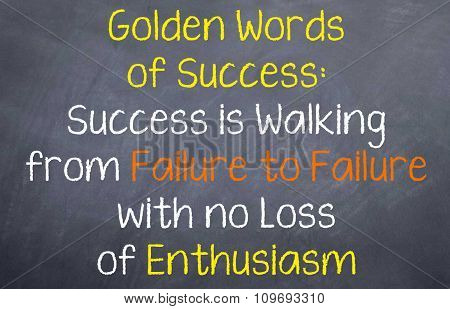 Success is Walking from Failures
