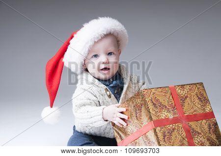 Santa Claus Baby  With Gift Box