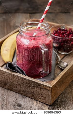Smoothie Of Banana And Berries