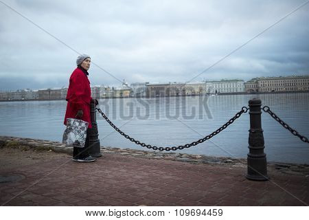 Old Woman Neva River Saint Petersburg