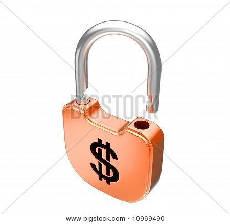 Unlocked Us Dollar Currency Padlock
