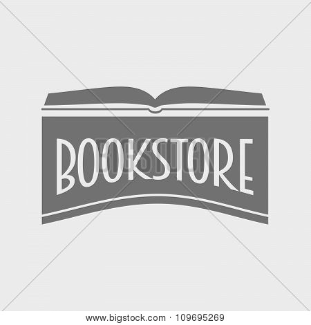 Bookstore Or Library Vector Logo Concept. Education And Knowledge Concept. Open Book Logotype Design