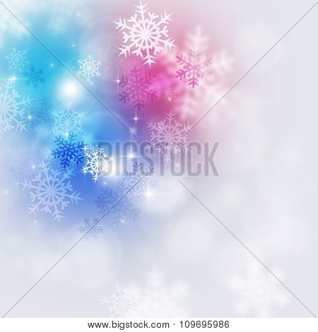 Holiday Multicolor Snow Background
