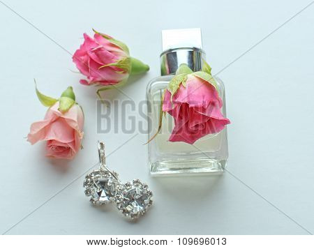Perfume And Pink Flowers