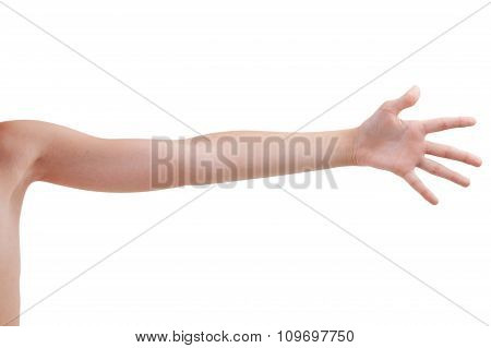 Stretched Human Hand