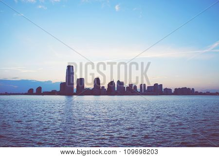 Jersey City Skyline From Manhattan