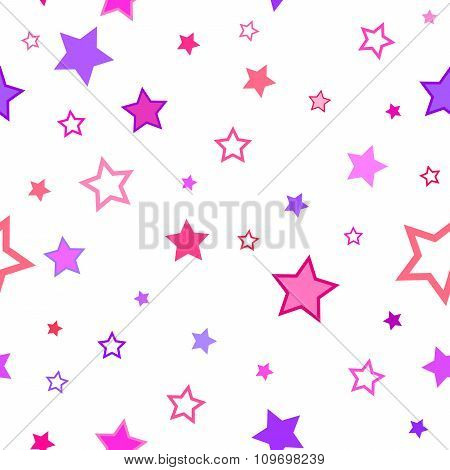 Abstract background pattern texture stars pink violet seamless vector
