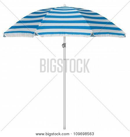 Beach Striped Umbrella - Light Blue