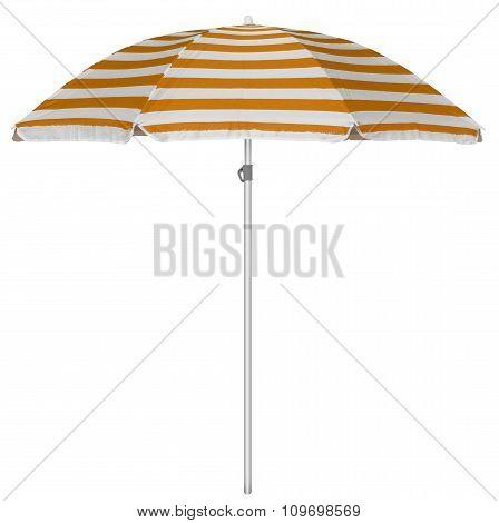 Beach Striped Umbrella - Orange