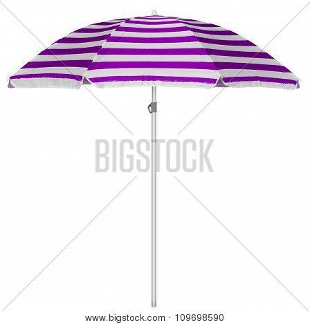 Beach Striped Umbrella - Violet