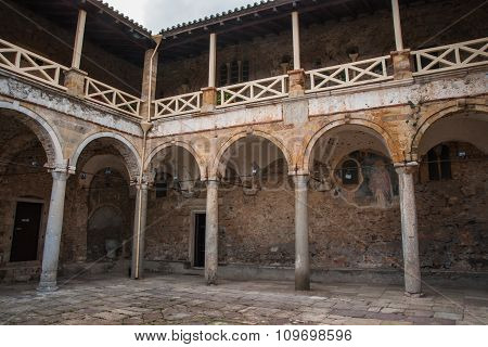 Ruins Of The Byzantine Castle Town Of Mystras