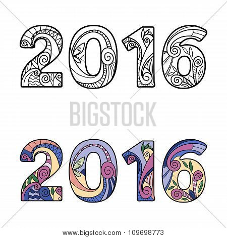 2016 New Year Numbers