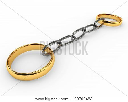 Wedding Rings Connected Chain