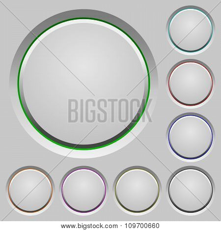 Blank Push Buttons