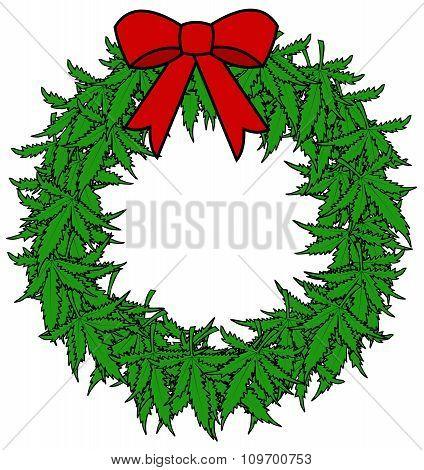 Marijuana Wreath