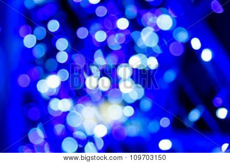 Blue Light With Bokeh Defocused Background