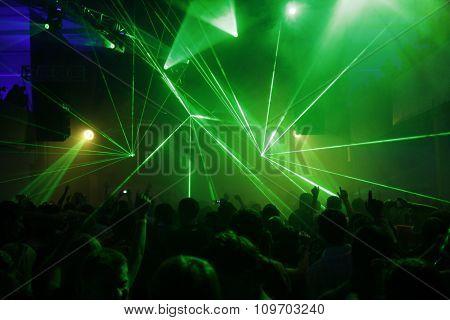 Laser Lights At Disco