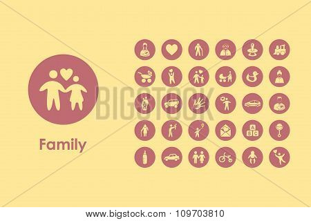 Set of family simple icons