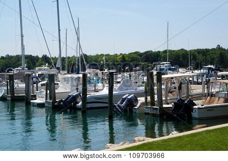 Boats Docked at the Municipal Marina