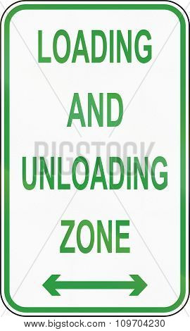Road Sign In The Philippines - Loading And Unloading Zone