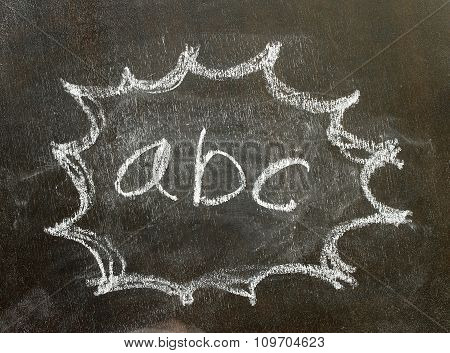 The Word Abc In Bubble Sign
