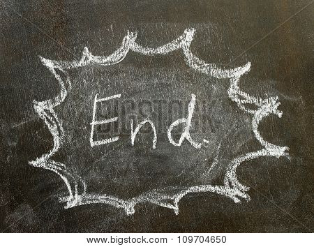 The Word End In Bubble Sign