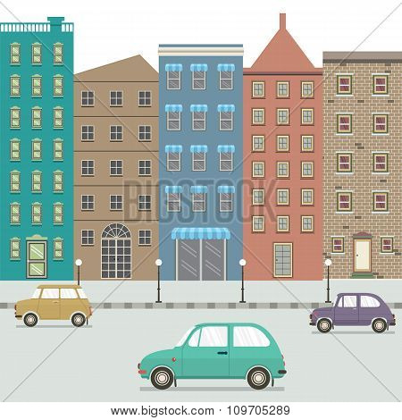 Three Type Of Cars In The City.