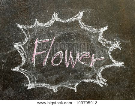 The Word Flower In Bubble Sign