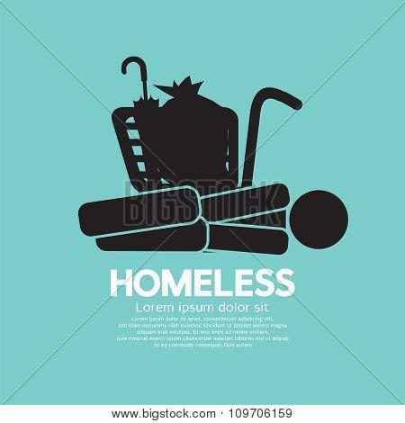 Black Symbol Graphic Of Homeless.