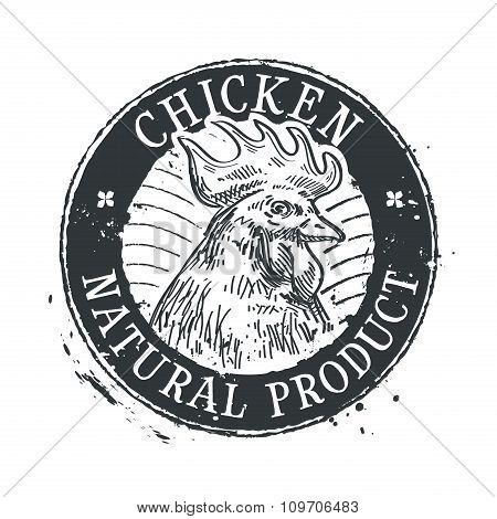 chicken vector logo design template. rooster or farm icon