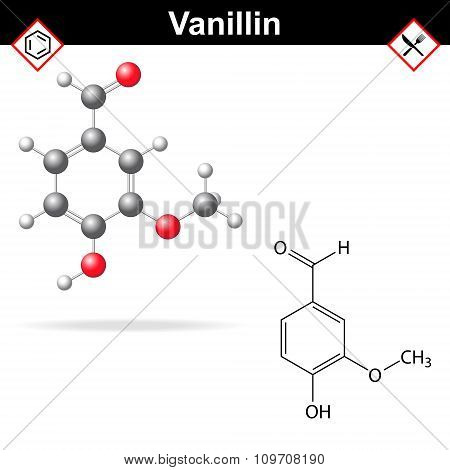 Vanillin - Chemical Formula And Molecular Structure