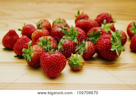 Still life of natural fresh strawberries