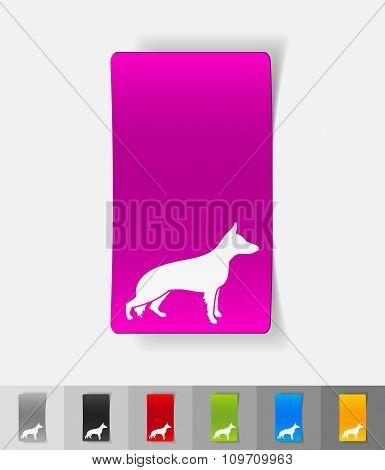 realistic design element. german shepherd